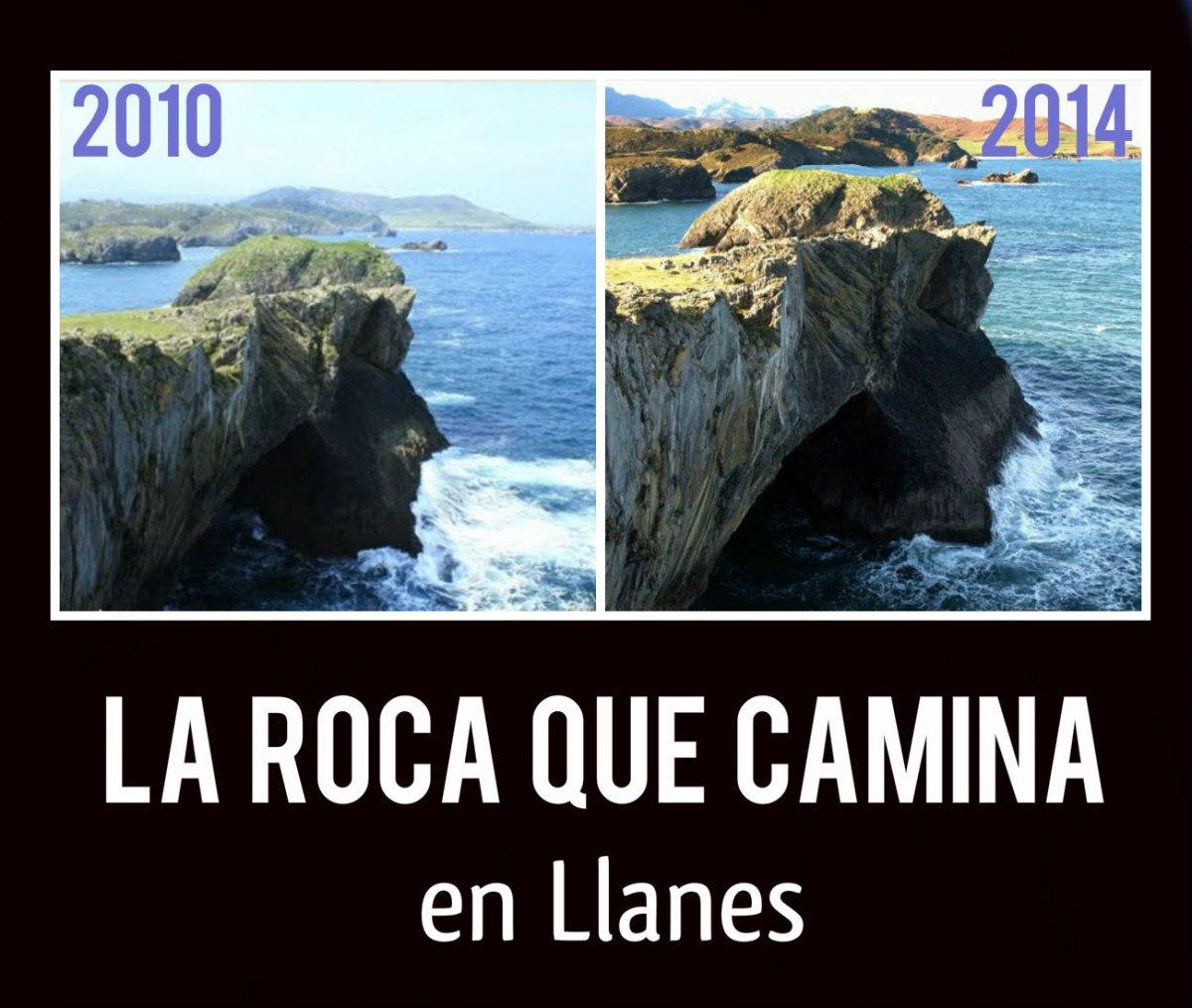 La roca que camina en llanes llanes turismo for De donde es la roca
