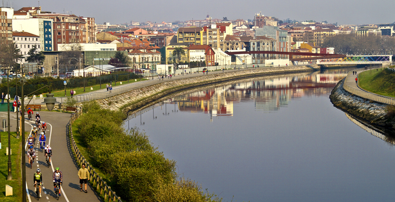 Aviles, Asturias, Spain view panoramic.